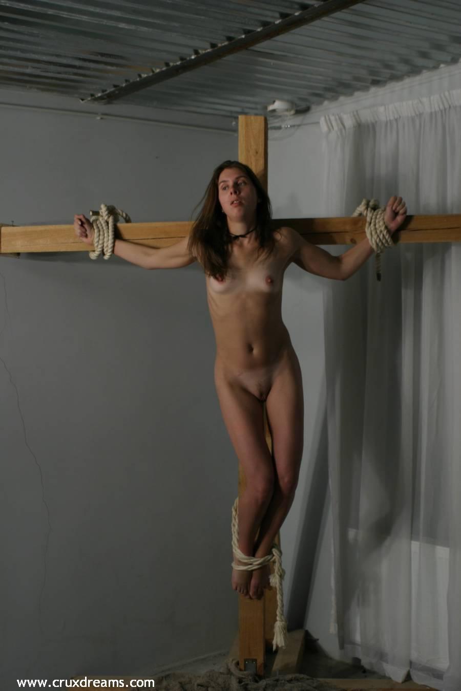 Both crucified women nude